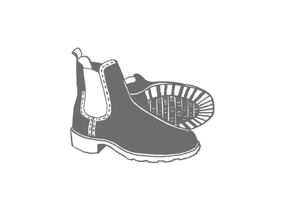 Illustration of winter footwear